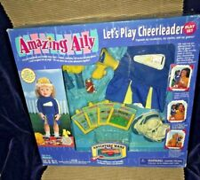 New 1999 Playmates Amazing Ally Let's Play Cheerleader Doll Playset Adventure