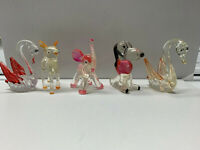 Lot of 5 Vintage 1970s Lucite Clear Plastic Toy Animal Figures