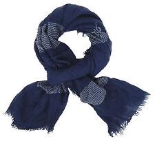 Pañuelo mujer azul blanco de Ella Jonte Bufanda Algodón Viscosa redondear FLECOS