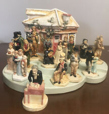 """A Christmas Carol"" Sebastian Miniatures Charles Dickens Cottage Set (17) Piece"