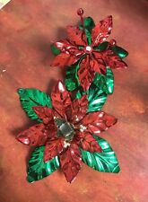 2 Department 56 Dept56 Poinsettia Candle holders