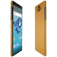 Skinomi Gold Carbon Fiber Skin Cover for Sony Xperia 10 Plus