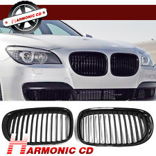 Fits BMW 2009-2015 F01 F02 7-Series Gloss Black Front Kidney Grilles Grill