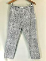 Target Size 10 Black and White Animal Print Casual Lightweight Tapered Leg Pants