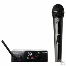 AKG Wireless WMS 40 Pro Mini Vocal Set Microphone and  Receiver Mic Band A US45A