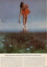 1964 Australian National Travel PRINT AD The Great Barrier Reef Beautiful Ad