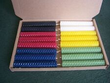 16 Beeswax Rolled Candles Quarter Set for Altar (10cm/4 Inch) Altar/Wicca/Pagan