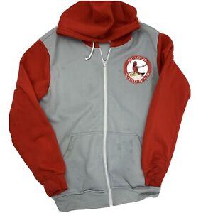 St Louis Cardinals Baseball SGA Hooded Zip Up Jacket Men's Size XL