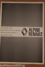 Renault Alpine 1971 Oficial Fábrica competencia Historia & Berlinette