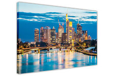 GERMANY FRANKFURT CITY CANVAS ART PICTURES FRAMED ART HOME DECO WALL POSTERS
