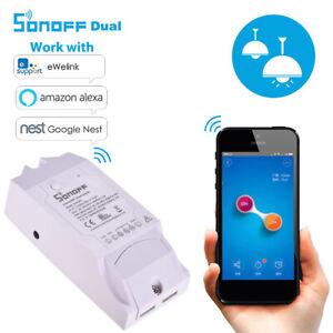 1-10PCS Sonoff Dual R2 WiFi Smart Switch funktioniert mit Google Home Alexa