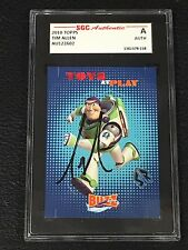 """TIM ALLEN """"BUZZ LIGHTYEAR"""" 2010 TOPPS TOY STORY SIGNED AUTO CARD SGC AUTHENTIC"""