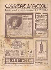CORRIERE DEI PICCOLI 29 GENNAIO 1911 anno III NUMERO 5 CON SOVRACOPERTINA SPED