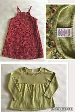 Vtg Gymboree Girls 5 Apple For The Teacher Floral Dress Sweater Top Outfit Set