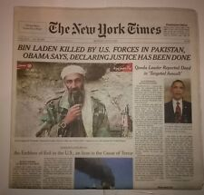 New York Times Bin Laden Killed By U.S. Forces May 2, 2011