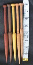 5 Tapestry Bobbins Hand crafted maple/walnut Osage orange Padurk