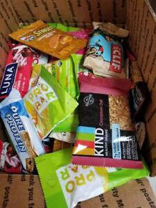 80 ASSORTED HEALTH PROTEIN  NUTRITION BARS  LQQK!!! NO RESERVE