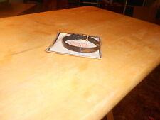 Keep Collective Leather Bracelet Single Reversible (new) BROWN & BLK SNAKE/BLACK