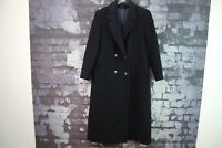 Womens Wool & Cashmere Blue Coat Size Uk 10 No.F784 14/11