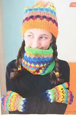 Sciarpa Donna Cappello basso di lenza e le muffole Knitting Pattern