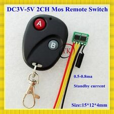 2 CH Micro Contactless RF Remote Switch Low Standby Current 0.5-0.8ma Wireless