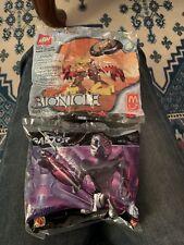 NEW Lego McDonald's Lot 2001 Bionicle Jala 4 1391 & 2002 Galidor Gorm 3 Sealed