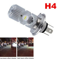 Motorcycle LED H4 HS1 Hi Lo COB Light Headlight Motorbike Bulb Lamp DC 12V 6500K