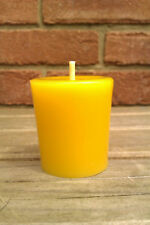 100% Pure Natural English Beeswax Votive Candle Unscented 35mm x 45mm