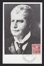 1951 Sir Edmund Barton 3d Red predecimal stamp on postcard presentation