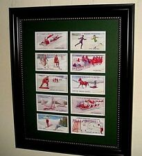 WINTER SPORTS - 10 PICTURES IN MATS   (BUY UNFRAMED  $27  or FRAMED  $50)