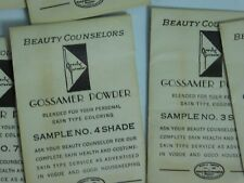 Vintage Beauty Counselor Make-Up Grossamer Powder Sample Packs Lot Of 24