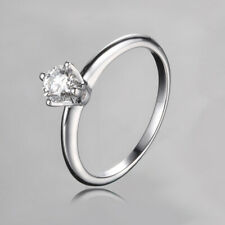 4.3mm Round 0.3ct Moissanite Gemstone Sterling Silver Luxurious Generous Ring
