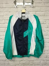Adidas green and white retro shell suit top label size 40-42