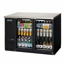 """Everest Ebb48G-24 49"""" Two Section Back Bar Cooler with Glass Door, 13.0 cu. ft."""