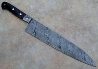 "15"" Custom Handmade Damascus Steel Chef Knife"