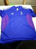 F.F.F. France soccer jersey Adidas XL Mens blue Embroidered