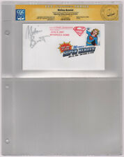 Melissa Benoist Signed CGC SS Supergirl Double Cancelled FDI Stamp / Superman DC