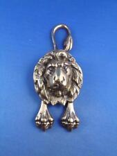 LION DOOR KNOCKER BRASS METAL STRETCHED LEGS LONG TAIL ANTIQUE DECORATIVE