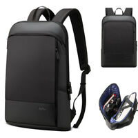 "Water Resistant Slim Business Backpack Rucksack 15.6"" Laptop bag School Daypack"