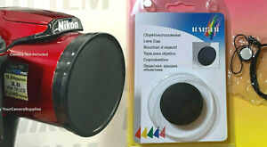 SLIP-ON FRONT LENS CAP DIRECTLY TO CAMERA NIKON COOLPIX B500 B 500 + HOLDER