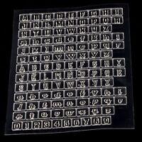 Transparent Scrapbooking Alphabet Anzahl Silikon-Stempel Kartenherstellung