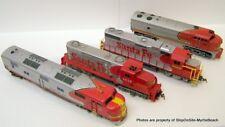 Lot Of 4  HO Scale - Santa Fe Locomotives **Free S&H**