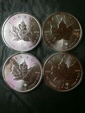 Lot of Four 2018 Canada $5 1oz Silver Maple Leafs