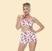 Esther Williams Lobster Print Crop & Shortie Set 4-16 BNWT FAST FREE SHIPPING!