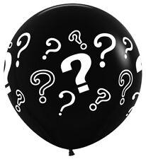 """Sempertex 36"""" 3 Ft Gender Reveal Balloon Baby Shower Boy or Girl He or She"""