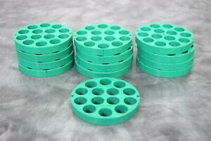 Beckman 339180 Lot of 13-Discs 14x15mL Green Insert Adapters with Warranty