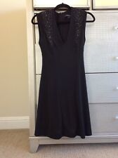 New NWOT $228 French Connection FCUK Black Sequin Cocktail Dress V neck 2 XS