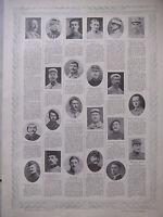 TABLEAU D'HONNEUR 4 PLANCHES N°230 au N°232 VICTIMES DE GUERRE 1914/1918 PÉTAIN