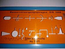 Zeichenschablone Wasserversorgungsanlagen  Standardgraph  7311