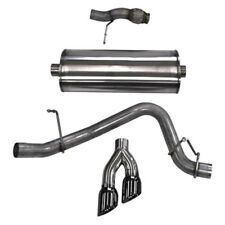 Corsa Cat Back Exhaust, Sport, 3in, Single Side Twin Black 4in Tips, 2015 Chevy